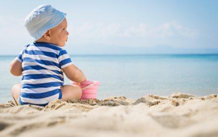 babies on the beach