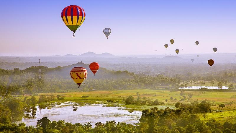 Balloon flight in Sri Lanka