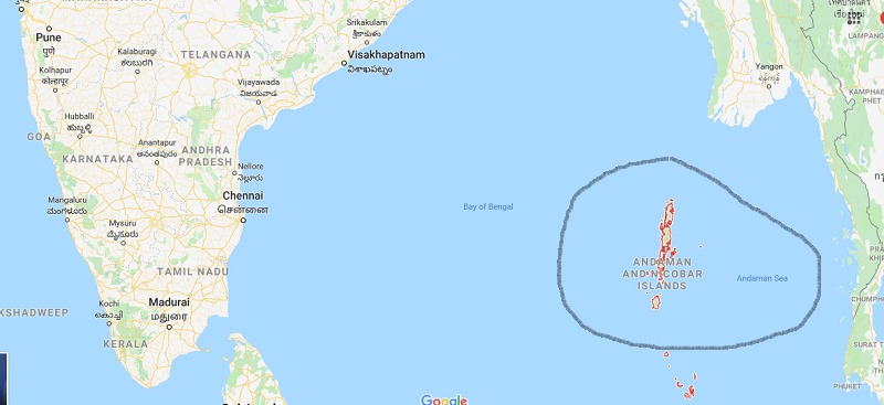 How to get inAndaman Nicobar islands map