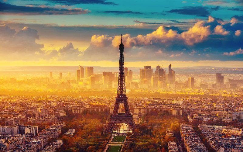 the Paris in winter