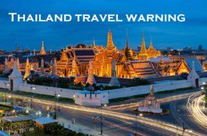 Thailand travel warning