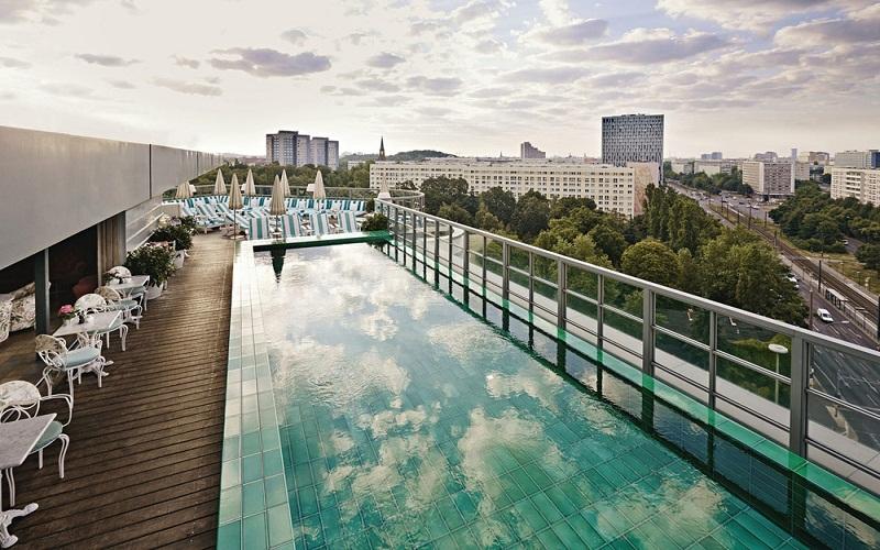 sky over Berlin city