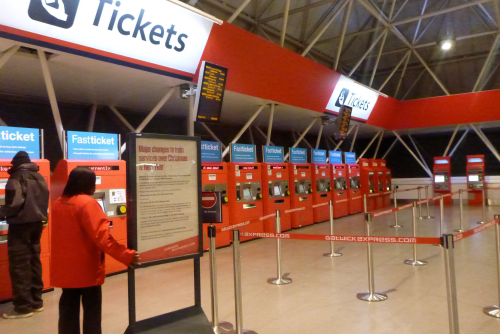 buying tickets from airport