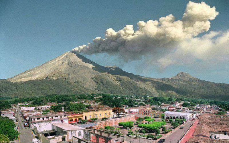 the volcanoes in Mexico