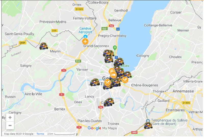 things to do in Geneva map
