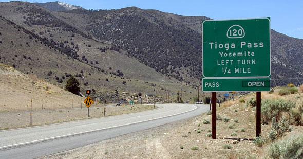 Route of Tioga Road